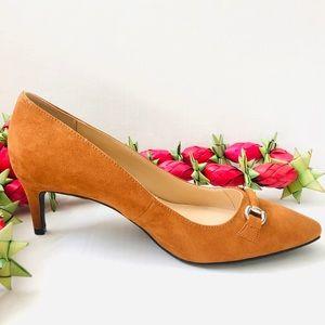 Ann Taylor Factory Brown Kitten Heels